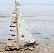 Для дома и интерьера ручной работы. Ярмарка Мастеров - ручная работа маленький кораблик. Handmade.