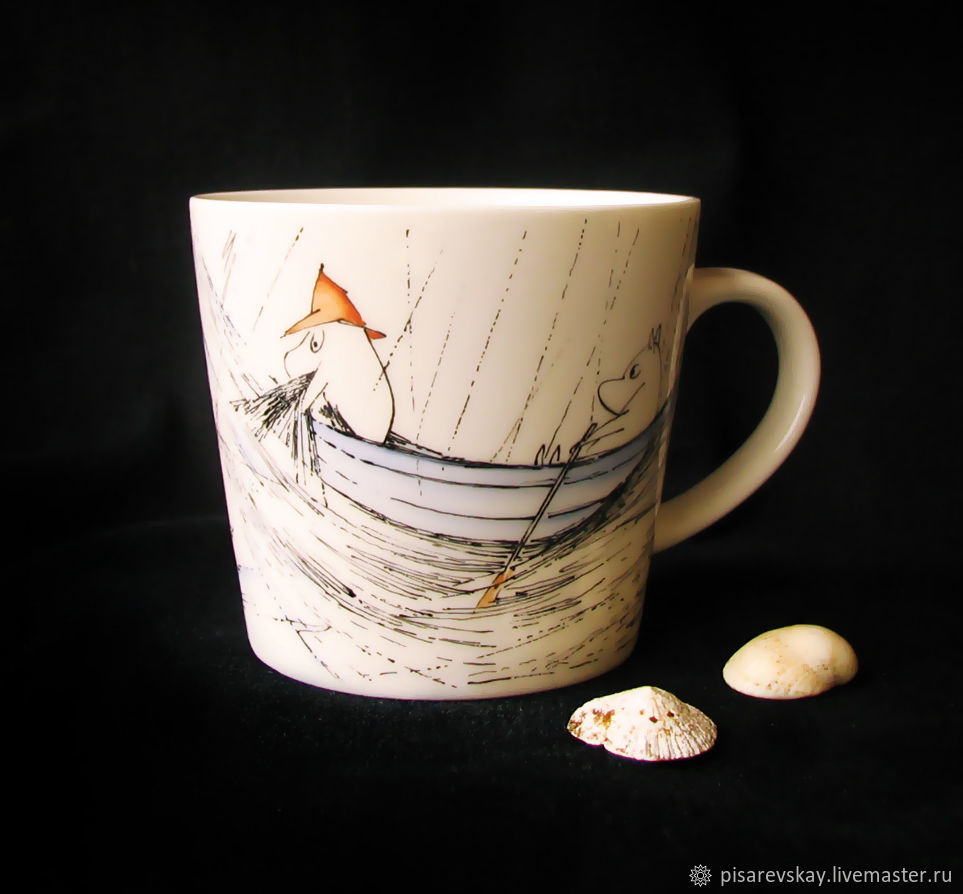 Кружка «Муми-Тролли. Папа и море», Кружки и чашки, Санкт-Петербург,  Фото №1