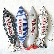 """Куклы и игрушки ручной работы. Ярмарка Мастеров - ручная работа Рыба-подвес """"Не беспокоить!"""". Handmade."""