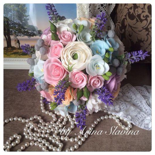 Букеты ручной работы. Ярмарка Мастеров - ручная работа. Купить Букет невесты из полимерной глины. Handmade. Букет, цветы из глины