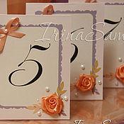 Свадебный салон ручной работы. Ярмарка Мастеров - ручная работа Номерки на стол и рассадочные карточки. Handmade.