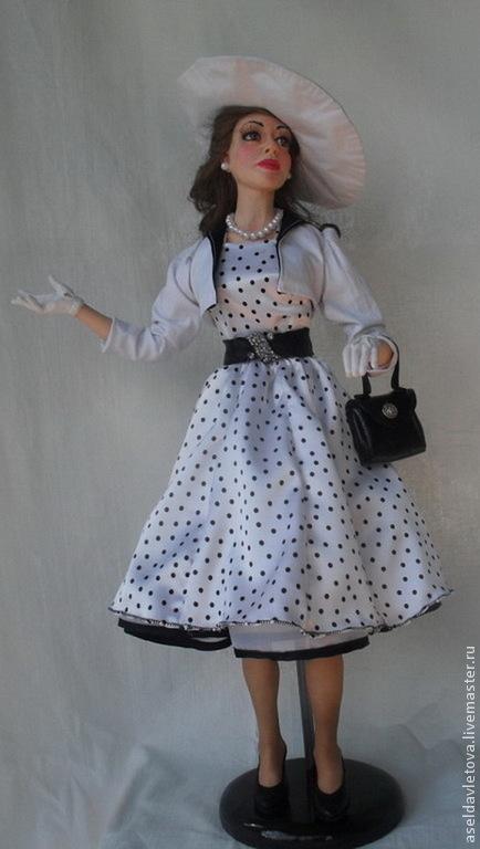 Коллекционные куклы ручной работы. Ярмарка Мастеров - ручная работа. Купить Театралка. Handmade. Чёрно-белый, подарок на любой случай