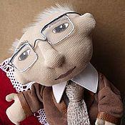 """Куклы и игрушки ручной работы. Ярмарка Мастеров - ручная работа Театральная кукла на руку """"Профессор"""". Handmade."""