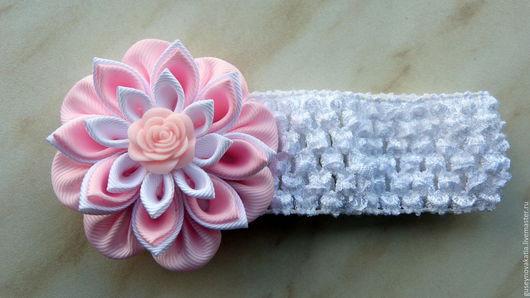 Детская бижутерия ручной работы. Ярмарка Мастеров - ручная работа. Купить Повязка для волос Розовая нежность. Handmade. Разноцветный