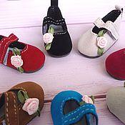 Материалы для кукол и игрушек ручной работы. Ярмарка Мастеров - ручная работа Замшевые туфли для кукол, 4,5см. Handmade.