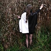 """Одежда ручной работы. Ярмарка Мастеров - ручная работа Накидка """"Венеция"""" чёрно-белая на ленте, плащ. Handmade."""