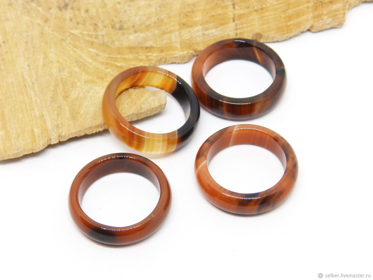 Ring of agate17.5 R-R Sunsets of Africa, Rings, Gatchina,  Фото №1