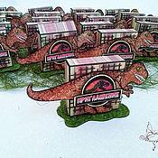"""Открытки ручной работы. Ярмарка Мастеров - ручная работа Приглашение """"Jurassic Park"""". Handmade."""