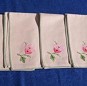 Винтаж handmade. Livemaster - original item Vintage napkins with applique. Handmade.