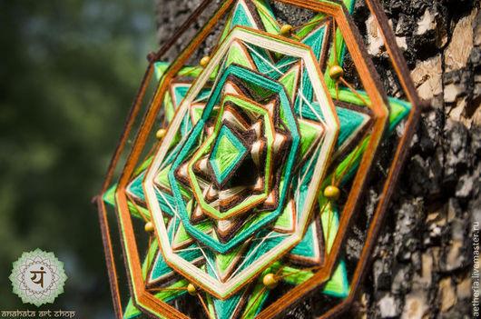 """Этно ручной работы. Ярмарка Мастеров - ручная работа. Купить Индейская мандала """"Душа леса"""" (Ojo de dios). Handmade."""