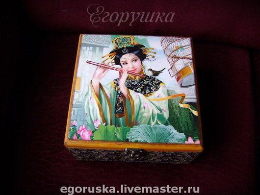 Kitchen handmade. Livemaster - handmade. Buy Carton box for tea or needlework Kitayanochka.Tea box, beauty, tree