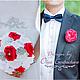 """Свадебные цветы ручной работы. Брошь - букет (brooch) для невесты """"Фуксия"""". Pour Moi (olgagorbacheva). Интернет-магазин Ярмарка Мастеров."""