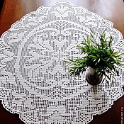 Для дома и интерьера handmade. Livemaster - original item A small tablecloth or a large napkin Classic. Handmade.
