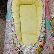 Кокон-гнездо ручной работы. Ярмарка Мастеров - ручная работа Кокон-гнёздышко для новорождённых. Handmade.