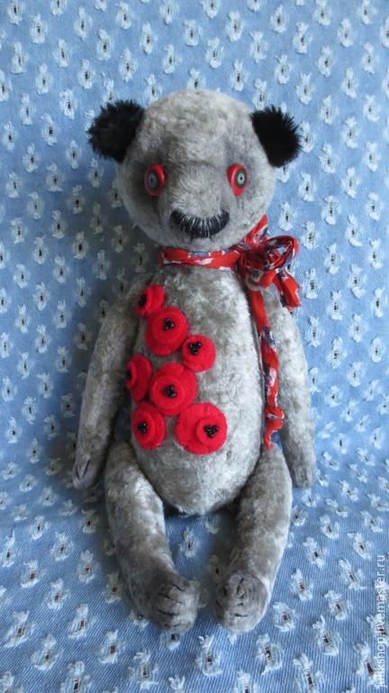 Мишки Тедди ручной работы. Ярмарка Мастеров - ручная работа. Купить Мишка 2. Handmade. Серый, плюш, шплинтовое соединение