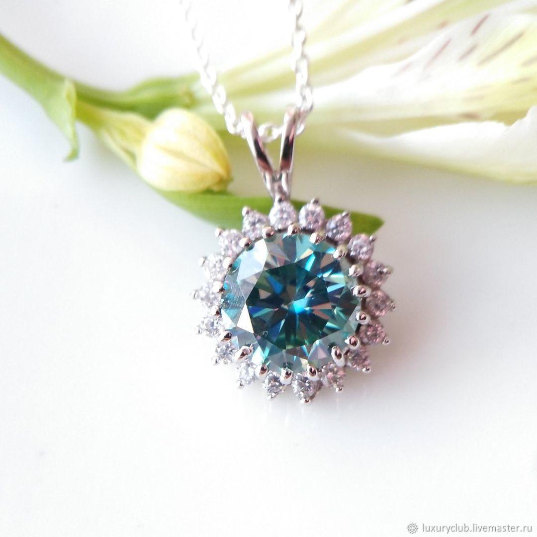 Diamond pendant 'Drop of the sky' 3.50 ct buy, Pendants, Tolyatti,  Фото №1