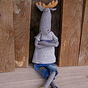 Куклы и игрушки ручной работы. Ярмарка Мастеров - ручная работа Лосик..Текстильный лось. Лось тильда.. Handmade.
