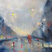 Картины и панно ручной работы. Ярмарка Мастеров - ручная работа Под дождем. Handmade.