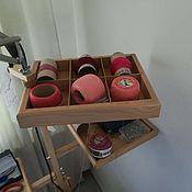 Инструменты для вязания ручной работы. Ярмарка Мастеров - ручная работа Органайзер для клубков. Handmade.