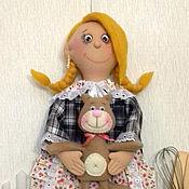 Для дома и интерьера ручной работы. Ярмарка Мастеров - ручная работа Кукла пакетница (блондинка). Handmade.