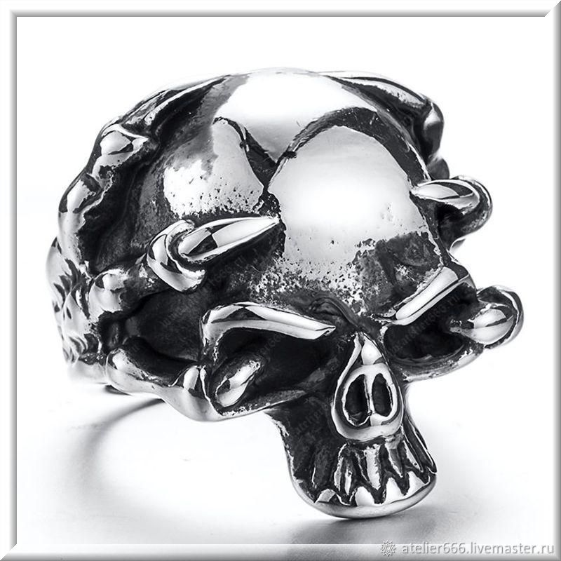 Men's Skull ring No. 3 steel, Ring, Moscow,  Фото №1