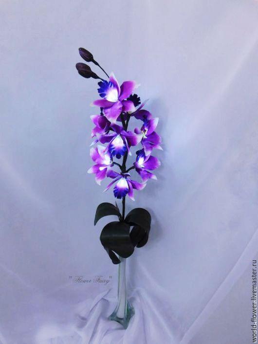 """Освещение ручной работы. Ярмарка Мастеров - ручная работа. Купить Цветок-светильник """"Орхидея  lilac"""". Handmade. Сиреневый, ночник орхидея"""