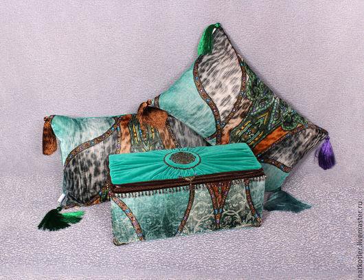 Комплект (две подушки и шкатулка) ФИРУЗЕ