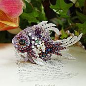 Украшения ручной работы. Ярмарка Мастеров - ручная работа Красавица морская Рыбка брошь вышивка бисером. Handmade.