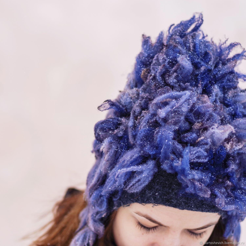 Hat felted 'Kolokolnya' cap hat wool, Caps, St. Petersburg,  Фото №1