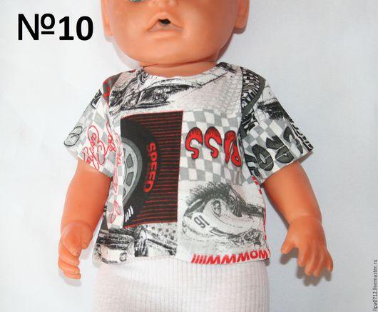 Одежда для кукол ручной работы. Ярмарка Мастеров - ручная работа. Купить Футболочки для мальчиков и девочек. Handmade. Футболка, футболка для куклы