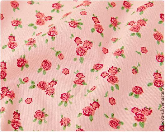 """Шитье ручной работы. Ярмарка Мастеров - ручная работа. Купить Хлопок """"Розовый в розочку"""". Handmade. Ткань, хлопок, ткань для творчества"""
