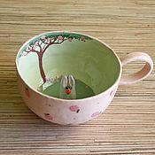 """Посуда ручной работы. Ярмарка Мастеров - ручная работа Кружка """"Зайка"""". Handmade."""