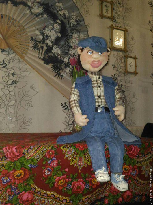 Красавиц мужчина, каркасная кукла, кукла ручной работы.