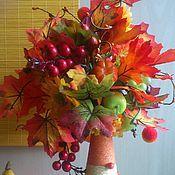 """Цветы и флористика ручной работы. Ярмарка Мастеров - ручная работа Топиарий """"Осень в разгаре"""". Handmade."""