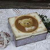 """Для дома и интерьера ручной работы. Ярмарка Мастеров - ручная работа Шкатулка """"Моя сиреневая прелесть"""". Handmade."""