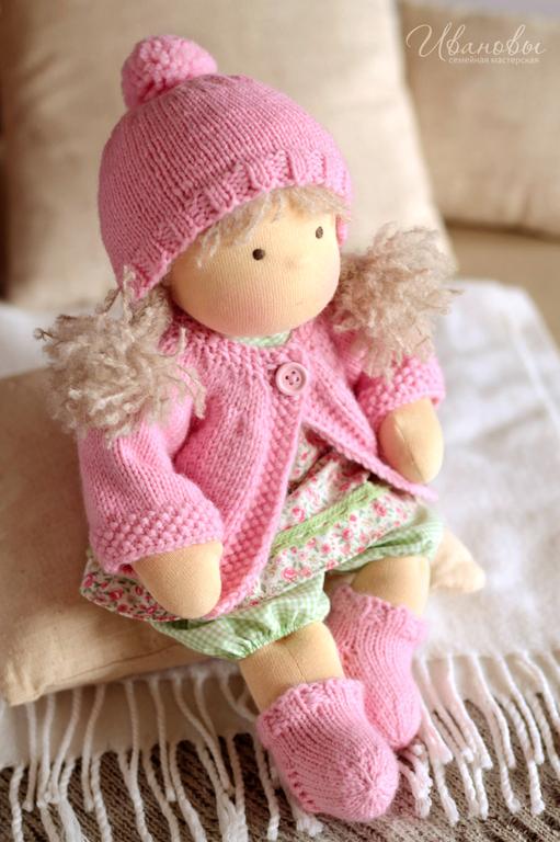 Вальдорфская игрушка ручной работы. Ярмарка Мастеров - ручная работа. Купить Вальдорфская кукла Цветочная Непоседа. Handmade. Вальдорфская кукла
