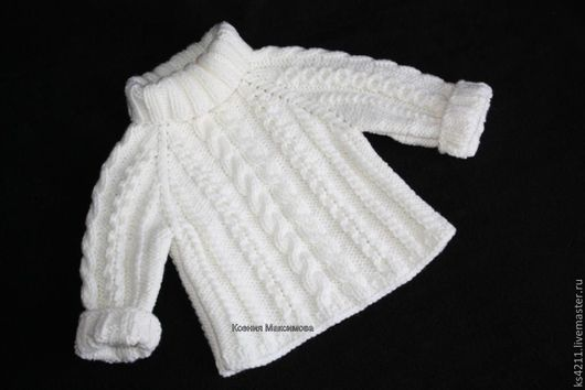 """Одежда унисекс ручной работы. Ярмарка Мастеров - ручная работа. Купить свитер """"Зимний"""" авт. модель. Handmade. Белый, кофта"""