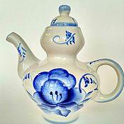 Vintage teapots handmade. Livemaster - original item The tea pot Gzhel. Handmade.