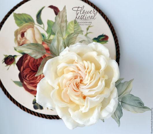 """Цветы ручной работы. Ярмарка Мастеров - ручная работа. Купить Роза  из шелка """"Creme Caramel"""". Цветы из ткани. Handmade. Бежевый"""