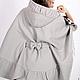 """Верхняя одежда ручной работы. Ярмарка Мастеров - ручная работа. Купить Пальто пончо  """"Марина"""" на шелковой подкладке. Handmade. Осень"""