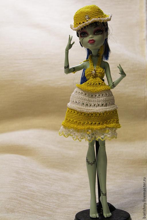 Одежда для кукол ручной работы. Ярмарка Мастеров - ручная работа. Купить Платье для Monster High. Handmade. Одежда для кукол