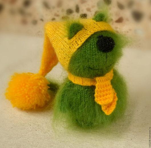 Игрушки животные, ручной работы. Ярмарка Мастеров - ручная работа. Купить Зеленый котик вязаная игрушка кот амигуруми кот пушистик вязаный. Handmade.