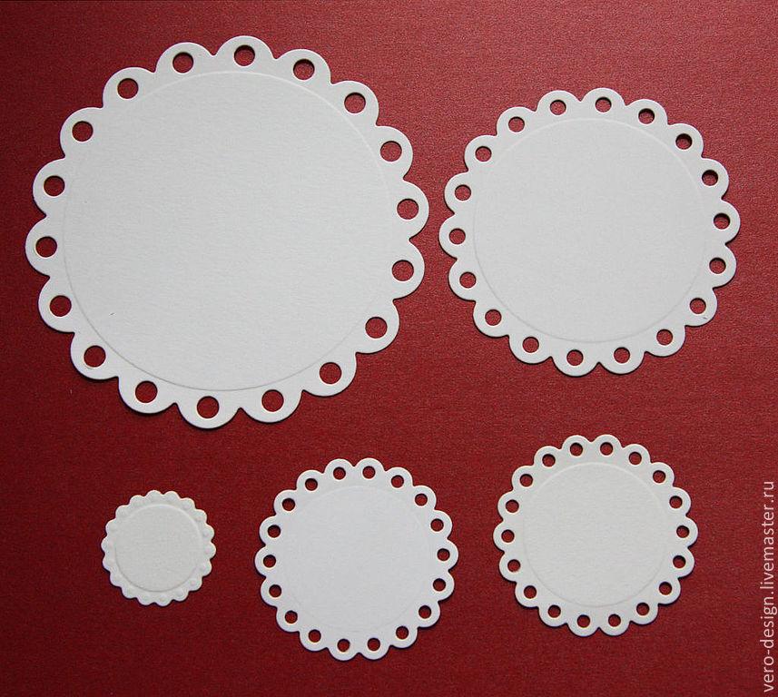 Вырубка для скрапбукинга  Eyelet Circles 5 элементов, Вырубки для скрапбукинга, Москва,  Фото №1