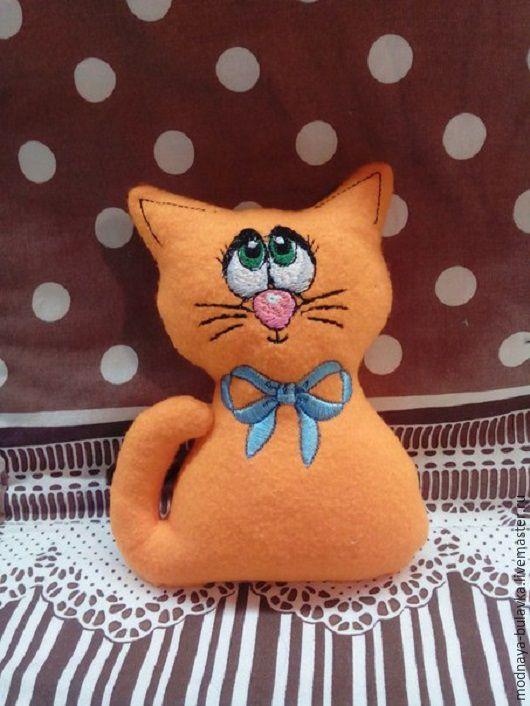 Игрушки животные, ручной работы. Ярмарка Мастеров - ручная работа. Купить Мягкая  игрушка именная. Handmade. Оранжевый, радость