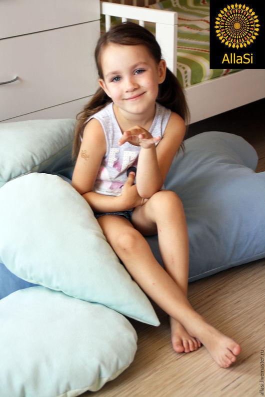 Детская ручной работы. Ярмарка Мастеров - ручная работа. Купить Пуф Облачко, напольный, подушка, кресло пенопластовые шарики. Handmade.