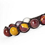 Украшения handmade. Livemaster - original item Shamballa bracelet with Australian Jasper, Mukai. Handmade.