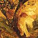 Пейзаж ручной работы. Картина Осенняя Нирвана в технике маркетри. Мария. Интернет-магазин Ярмарка Мастеров. Золотистый, естественные цвета