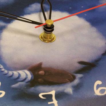 """Для дома и интерьера ручной работы. Ярмарка Мастеров - ручная работа Часы """"Облачный сон"""". Handmade."""