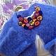 Кардиган  `Колокольчиков Цвет`, вязанный, ангора Annyblatt. Кардиган ручной работы.