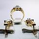 Комплект Золотое бриллиантовое кольцо серьги 585 пробы. Комплекты украшений. GOLDJEWELRY-BK. Ярмарка Мастеров. Фото №5